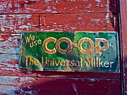 Contry Prints - Old Sign Print by Diana Hatcher