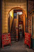 Stairs Glass - Old Signs by Adrian Evans
