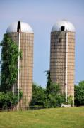 Country Scenes Photos - Old Silos by Jan Amiss Photography