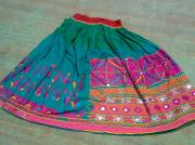 Ethnic Tapestries - Textiles - Old Skirt by Dinesh Rathi