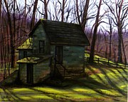 Scott Melby Framed Prints - Old Springhouse Framed Print by Scott Melby
