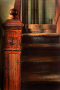 Wooden Stairs Photo Prints - Old Staircase Print by Jill Battaglia