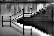 Standing Water Prints - Old Stairway Print by Ander Aguirre photography