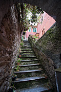 Cinque Terre Metal Prints - Old Stairwell  Metal Print by Mike Reid