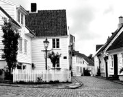 Old Houses Metal Prints - Old Stavanger I Metal Print by Helene Sobol