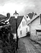 Old Houses Metal Prints - Old Stavanger II Metal Print by Helene Sobol