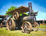 Horse And Buggy Prints - Old Steam Engine Print by Steve McKinzie