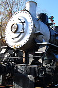 Railroads Framed Prints - Old Steam Locomotive Engine 1258 . 7D10459 Framed Print by Wingsdomain Art and Photography