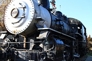Railroads Framed Prints - Old Steam Locomotive Engine 1258 . 7D10460 Framed Print by Wingsdomain Art and Photography