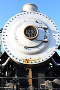 Railroads Framed Prints - Old Steam Locomotive Engine 1258 . 7D10461 Framed Print by Wingsdomain Art and Photography