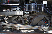 Sante Fe Prints - Old Steam Locomotive Engine 1258 . Wheels . 7D13000 Print by Wingsdomain Art and Photography