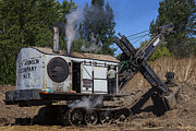 Boiler Photos - Old steam shovel  by Garry Gay