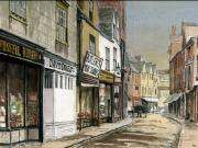 Victorian Buildings Paintings - Old St.Ebbes Oxford by Mike Lester