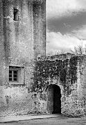Old Building Framed Prints - Old Stone Building Black And White Framed Print by Jill Battaglia