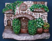 House Sculpture Metal Prints - Old Stone House Metal Print by Alison  Galvan