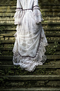 Garment Photos - Old Stone Stairs by Joana Kruse