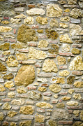 Patterned Photo Posters - Old Stone Wall, Tuscany, Italy Poster by Paul Edmondson