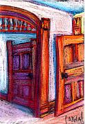 Iowa Pastels Prints - Old Studio on Second Floor Print by Jeffrey Carnal