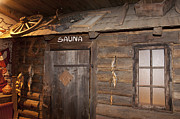 Cabin Window Photos - Old Style Sauna Room by Jaak Nilson