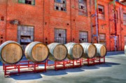 Winery Digital Art - Old Sugar Mill Barrels by Randy Wehner Photography