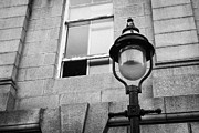 Overcast Day Photo Prints - Old Sugg Gas Street Lights Converted To Run On Electric Lighting Aberdeen Scotland Uk Print by Joe Fox