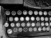 Typewriter Keys Photo Posters - Old Tech Low Tech Poster by Mark Grayden