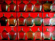 Image Gypsies Prints - Old Tequila Jugs by Darian Day Print by Olden Mexico