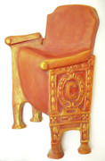 Dark Reliefs - Old Theatre Chair by Neda Laketic