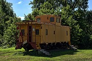 Caboose Art - Old Time Caboose by Tim McCullough