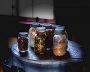 Goods Photo Prints - Old-Time Canned Goods Print by Tom Mc Nemar