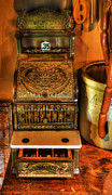 Red And Tea Prints - Old Time Cash Register - General Store - vintage - nostalgia  Print by Lee Dos Santos