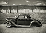 Black Car Prints - Old Time Class Print by Perry Webster