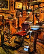 Work Lamp Posters - Old Time Dentist II -  dentistry - dentist chair -  surgery - The Dentist Chair - Office Poster by Lee Dos Santos