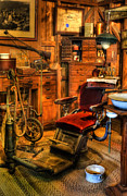 Work Lamp Posters - Old Time Dentist Office -  dentistry - dentist chair -  surgery - Dentist Chair IV Poster by Lee Dos Santos