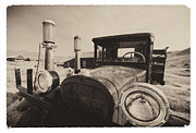 Gas Lamps Prints - Old Time Picture of a Truck Print by George Oze