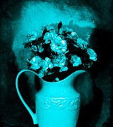 Old Pitcher Posters - Old Time Pitcher Bouquet Poster by Marsha Heiken
