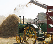 Thresh Posters - Old Time Threshing Poster by Wayne Stabnaw