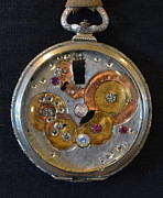 Art Jewelry - Old Timepiece by Gwen Albee