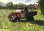 Rusty Truck Paintings - Old Timer by John Pirnak