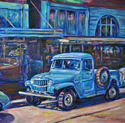 Small Towns Painting Metal Prints - Old Timer Metal Print by Li Newton