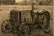 Machinery Drawings Framed Prints - Old Timer Framed Print by Terry Perham