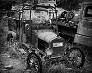 Rusted Cars Photo Acrylic Prints - Old Times 2 Acrylic Print by Perry Webster