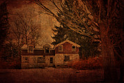 Abandoned Houses Prints - Old Times Print by Emily Stauring