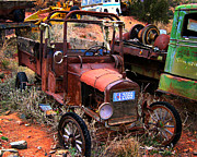 Rusted Cars Photos - Old Times by Perry Webster