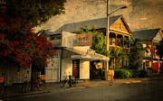 City Scapes Prints - Old Town -  Key West Florida Print by Thomas Schoeller