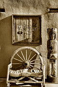 Business Greeting Cards Art - Old Town Albuquerque Shop by Steven Ainsworth