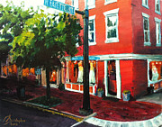 Alexandria Paintings - Old Town Alexandria by Christopher Clark