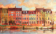 Drawing Painting Originals - Old Town Alexandria III by Christopher Clark