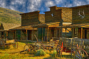 Old Wooden Wagon Prints - Old Town Cody Wyoming  Print by Garry Gay