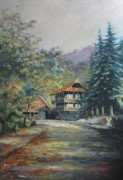 Realism Framed Prints - Old town Dilijan Framed Print by Tigran Ghulyan
